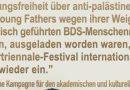 Podiumsdiskussion zu BDS auf der Ruhrtriennale