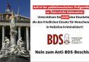 Österreich: Aufruf der palästinensischen Zivilgesellschaft an Österreichs Nationalrat: Nein zum Anti-BDS-Beschluss