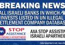 UN-Datenbank von Unternehmen in den illegalen israelischen Siedlungen: Fünf israelischen Banken, in die AXA investiert