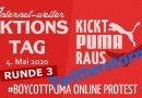 #BoycottPUMA Twitterstorm am 4. Mai 2020