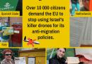Mehr als 10.000 Bürger*innen fordern die EU auf, den Einsatz israelischer Drohnen gegen Migrant*innen einzustellen